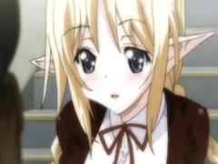 【エロアニメ オナニー】女子校生エルフが媚薬で発情MAX!! オナニー始めちゃったのでなぎ倒してハメ