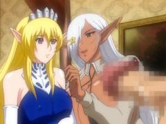 【エロアニメ お姫様】エルフのお姫様が人間王子と結婚→半獣結合して新たな世界が始まる