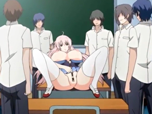 【エロアニメ 中出し】「こんな所でだめぇ!」体操着姿の美少女が同級生の肉棒を受け入れる