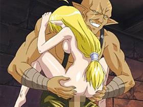 【エロアニメ 3P】敵対するメルヴェン家に奇襲され凌辱的レイプを受けるエルフ族ヘレナ