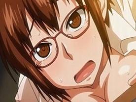 【エロアニメ めがね】地味メガネっ娘をトイレに連れ込み鬼畜中出し
