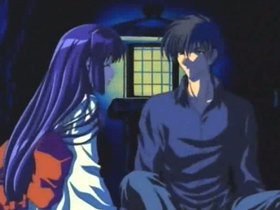 【エロアニメ 処女】洞窟で出会った幽霊のような美処女→月夜の晩に屋敷で交わる