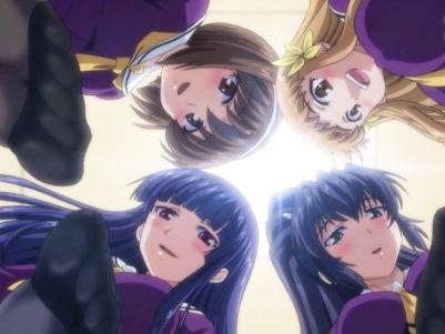 【エロアニメ 3P】JKのハーレム黒ストッキングで極限まで焦らされる快感!