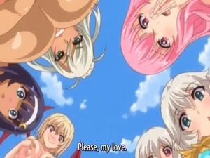 【エロアニメ 3P】一夫多妻制のファンタジー世界で誰にも文句を言われないハーレムSEX