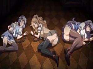 【エロアニメ JK】妹を苛めたJKたちを捕まえて監禁⇒ネットに向けて凌辱放送
