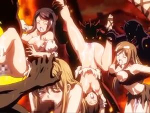 【エロアニメ 3P】気高きダークエルフの女戦士が甲冑を剥がされちゃった!