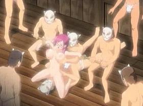 【エロアニメ めがね】巨乳メガネの女教師が生徒達に犯される!