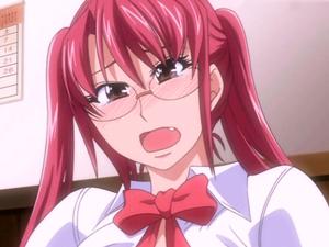 【エロアニメ 69】レズであることを男子生徒に知られ犯される女教師
