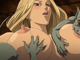【エロアニメ 3P】ゴブリンや触手獣の壮絶な快楽拷問にひたすら陵辱調教される女戦士