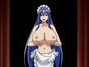【エロアニメ メイド】爆乳メイドしかいないお屋敷の領主が毎晩中出しファックに明け暮れる