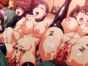 【エロアニメ 3P】「もっと!もっとおチンポくだしゃいぃ!」受験に失敗した巨乳JKがクラスの肉便器に!