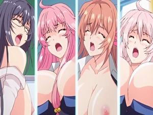 【エロアニメ 3P】催眠術使ってクラス全員孕ませてみた