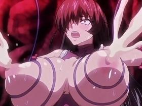 【エロアニメ 奴隷】触手に乳を縛られ母乳を噴射しながらイキまくる美女達
