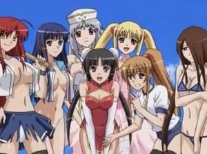 【エロアニメ 3P】無人島に一緒にたどり着いた美少女達とハーレム建国!