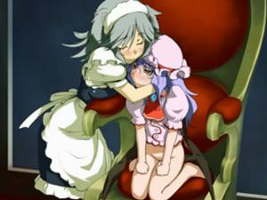 【エロアニメ お嬢様】「放尿なんて汚くありません」レミリアお嬢様にひれ伏し足舐め&クンニするメイド咲夜