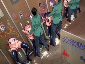 【エロアニメ 3P】優等生だったJKたちが進路に失敗して学園の肉便器堕ち