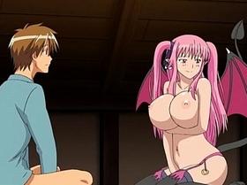 【エロアニメ めがね】巨乳でツンデレなヴァンパイアが男の精子を搾り取る!