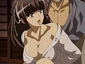 【エロアニメ 3P】捕らえられ肉便器にさせられてしまう巨乳くノ一