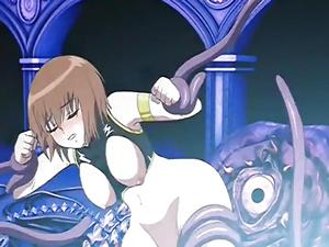 【エロアニメ お姉さん】陵辱の果てに魔獣の子を孕む美女