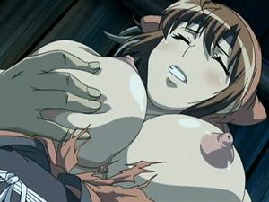 【エロアニメ レイプ】「もう‥やめてください‥」男衆の肉便器にされ妊娠を余儀なくされる女忍者