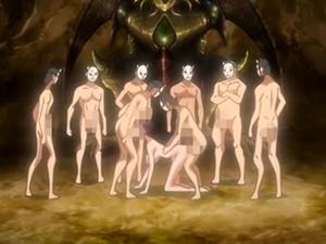 【エロアニメ 3P】巫女への輪姦が容認されている男にはラッキーすぎる田舎町
