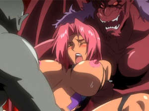 【エロアニメ レイプ】「だめぇ‥壊れちゃう!」魔獣に犯され精神崩壊してしまう爆乳女騎士