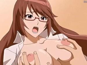 【エロアニメ お姉さん】眼鏡のマジメ系女子のくせに中出しされてやけに長い喘ぎ声を披露するお姉さんwwww