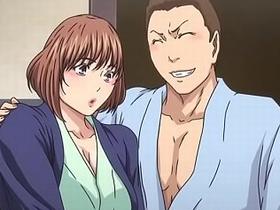 【エロアニメ 3P】鬼畜男達に輪姦調教され肉便器になり果てる巨乳妻