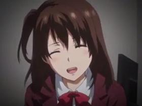 【エロアニメ 中出し】憧れの激カワ先輩と自宅で中出し性交!
