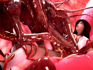 【エロアニメ 触手】凶悪な触手生物が戦隊ヒロインに襲いかかり徹底陵辱