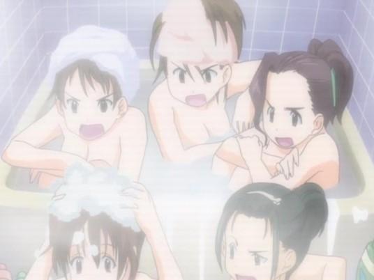 【エロアニメ ぶっかけ】女風呂からのレズセックス発展キタ━(゚∀゚)━!