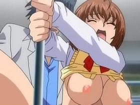 「嫌ッ!挿れないで!」巨乳女子高生が電車内で痴漢魔に襲われる!