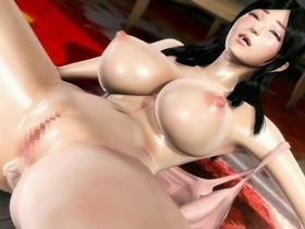 【エロアニメ お姉さん】潮吹きスケベな巨乳お姉さんが電車内で堂々と肉棒を受け入れるw