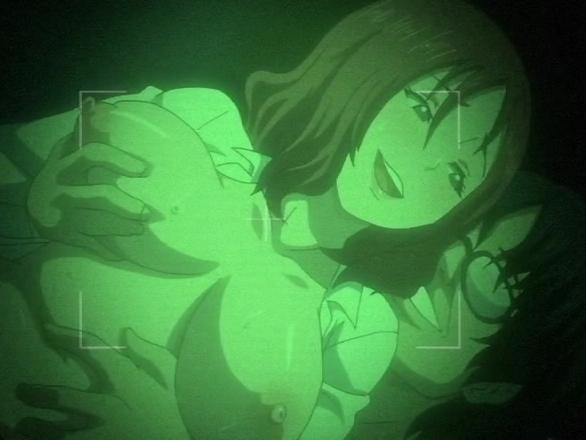 【エロアニメ ぶっかけ】暗視カメラでハメ撮りしながら生中出しされて絶頂www
