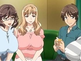 【エロアニメ めがね】同じマンションに住む元ヤリマンな人妻と日替わりパコ