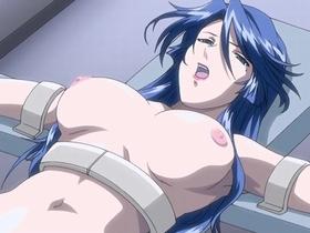 【エロアニメ 凌辱】悪の組織に捕らえられた巨乳女が拘束され犯される