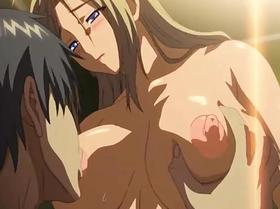 【エロアニメ 3P】巨乳美少女の膣中にドロドロの精液をぶちまける!