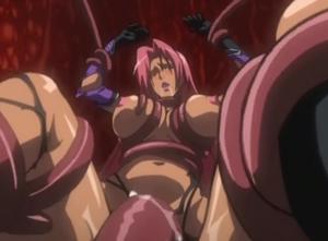 【エロアニメ レイプ】「おかしくなっちゃぅう!」極太触手に犯され理性崩壊しちゃう巨乳美女