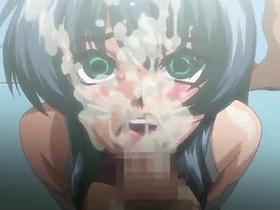 【エロアニメ ぶっかけ】休む間もなく連続でチンポを挿入され堕ちてゆく巨乳っ娘