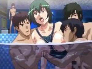 「えっ‥えッ!?」突然プールで襲われチンポぶち込まれる巨乳美女