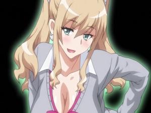 【エロアニメ JK】見るからにビッチそうなJKをデカチンでハメ倒し!