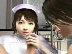 【エロアニメ 3P】「気持ち良かったですかぁ?」診察に来た患者とパコりまくる淫乱ナース